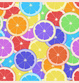 seamless pattern background citrus vector image vector image