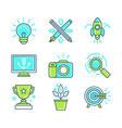 set linear icons in trendy style vector image vector image