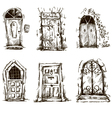 set of doodle doors sketch EPS 10 vector image vector image