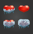 Set with frozen heart vector image