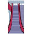 Shopping Mall Escalator vector image vector image