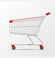 shopping trolley for shop store supermarket vector image