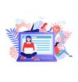 social network freelancer concept vector image