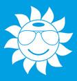 sun icon white vector image