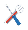 support repair tools concept help symbol vector image vector image