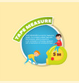 tape measure tool description little boys using vector image