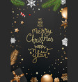 top view background with christmas accessories vector image vector image