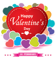 Valentines Day and colorful heart isolated on vector image vector image