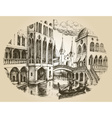 Venice gondola vector image vector image