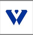 w company logo and symbol design vector image vector image