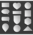 white icons set vector image