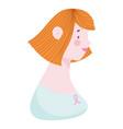 young woman cancer survivor vector image vector image