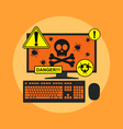 pc infection vector image