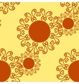 Seamless indian pattern flower-like texture vector image