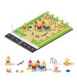 child playground isometric concept vector image