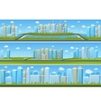 Urban landscape set with modern city vector image