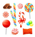 Candy Realistic Set vector image