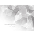 Abstract background with gray triangles vector image