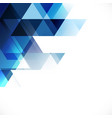 abstract blue tone geometric layout template vector image