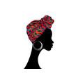 african woman zebra turban striped texture safari vector image vector image