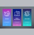 blogging virtual relationships social media vector image