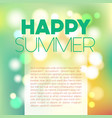 blurred summer postcard vector image
