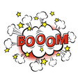 boom phrase in speech bubble comic text bubble vector image vector image