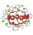 boom phrase in speech bubble comic text bubble vector image