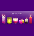 candle aroma flaming realistic vector image vector image