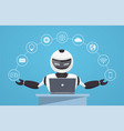 chat bot robot virtual assistance vector image vector image