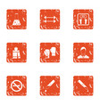 chemical training icons set grunge style vector image vector image