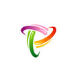 circle colored orbit technology logo vector image vector image