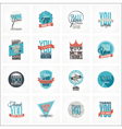 collection of thank you card designs vector image