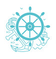 concept of seafaring icon vector image vector image