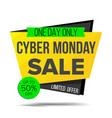 cyber monday sale banner discount banner vector image vector image