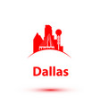 dallas usa detailed silhouette vector image vector image