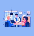 doctor examined patients vector image