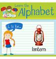 Flashcard alphabet L is for lantern vector image