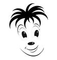 Funny cartoon smiley face vector image