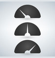 gauge level indicator icon set from low to high vector image vector image