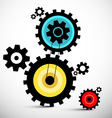 Gears Colorful Cogs vector image