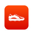 golf shoe icon digital red vector image vector image