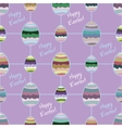 Happy easter cute holiday background seamless vector image