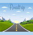 highway drive with beautiful landscape vector image vector image