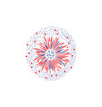 holiday colorful firework lights and splashes flat vector image vector image