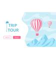 hot air balloon booking trip tour concept vector image vector image