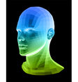 Human head Abstract vector image vector image