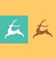 jumping deer logo silhouette of stylized deer vector image