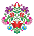 Kalocsai embroidery - Hungarian floral pattern vector image vector image
