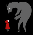 Little red riding hood and a predator vector image vector image